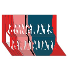 Decorative lines Congrats Graduate 3D Greeting Card (8x4)