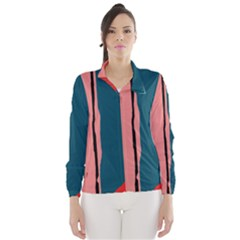Decorative lines Wind Breaker (Women)