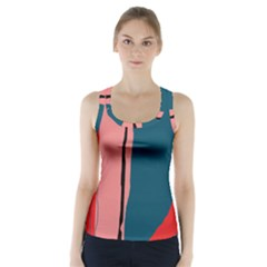 Decorative Lines Racer Back Sports Top