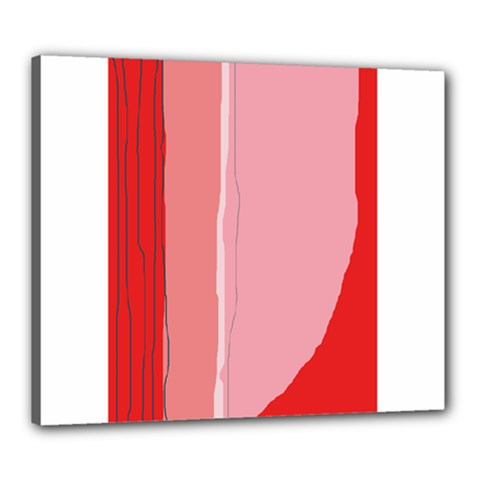 Red and pink lines Canvas 24  x 20