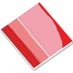 Red and pink lines Small Memo Pads