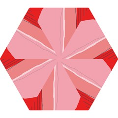 Red and pink lines Mini Folding Umbrellas