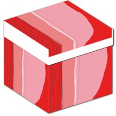 Red and pink lines Storage Stool 12