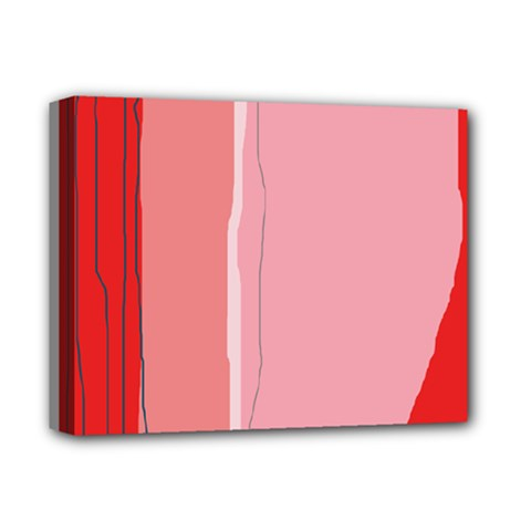 Red and pink lines Deluxe Canvas 14  x 11