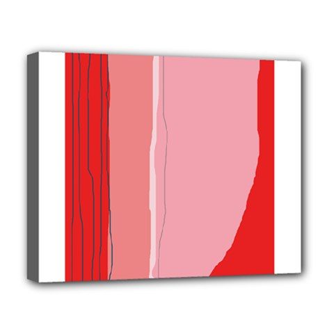 Red and pink lines Deluxe Canvas 20  x 16