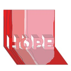 Red and pink lines HOPE 3D Greeting Card (7x5)