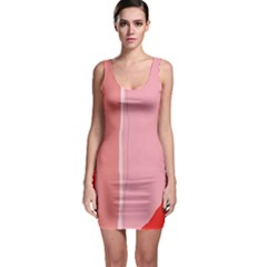 Red and pink lines Sleeveless Bodycon Dress