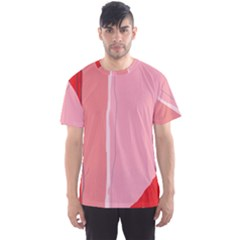 Red and pink lines Men s Sport Mesh Tee