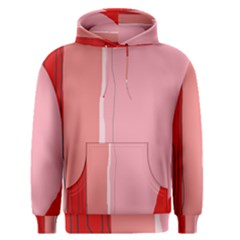 Red and pink lines Men s Pullover Hoodie