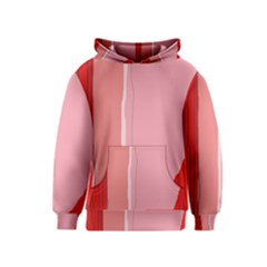 Red and pink lines Kids  Pullover Hoodie
