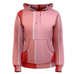 Red and pink lines Women s Pullover Hoodie