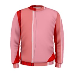 Red and pink lines Men s Sweatshirt