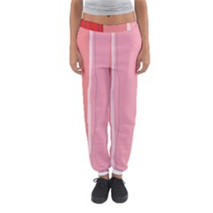 Red and pink lines Women s Jogger Sweatpants