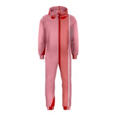 Red and pink lines Hooded Jumpsuit (Kids)