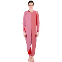 Red and pink lines OnePiece Jumpsuit (Ladies)