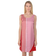 Red and pink lines Sleeveless Satin Nightdress