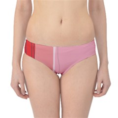 Red and pink lines Hipster Bikini Bottoms