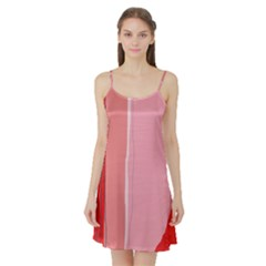 Red and pink lines Satin Night Slip