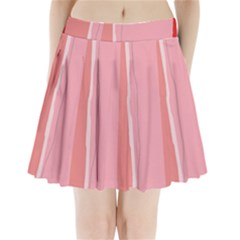 Red and pink lines Pleated Mini Mesh Skirt(P209)