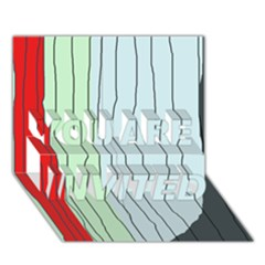 Decorative lines YOU ARE INVITED 3D Greeting Card (7x5)