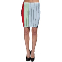 Decorative lines Bodycon Skirt