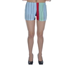 Decorative lines Skinny Shorts