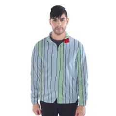 Decorative Lines Wind Breaker (men)