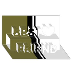 Elegant lines Best Friends 3D Greeting Card (8x4)