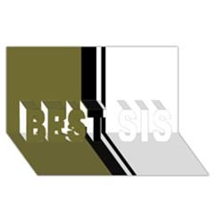 Elegant lines BEST SIS 3D Greeting Card (8x4)