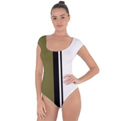 Elegant lines Short Sleeve Leotard