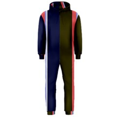 Decorative lines Hooded Jumpsuit (Men)