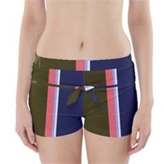 Decorative lines Boyleg Bikini Wrap Bottoms