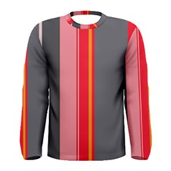 Optimistic lines Men s Long Sleeve Tee