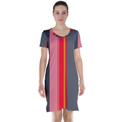 Optimistic lines Short Sleeve Nightdress