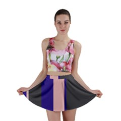 Purple, pink and gray lines Mini Skirt