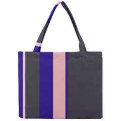 Purple, pink and gray lines Mini Tote Bag
