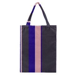 Purple, pink and gray lines Classic Tote Bag