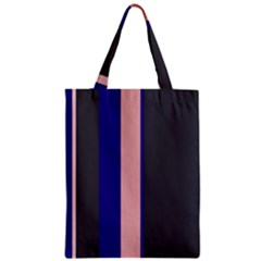 Purple, pink and gray lines Zipper Classic Tote Bag