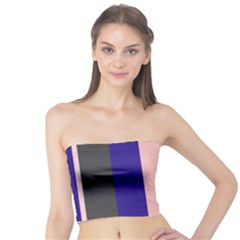 Purple, pink and gray lines Tube Top