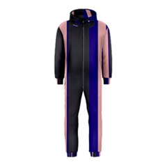 Purple, pink and gray lines Hooded Jumpsuit (Kids)