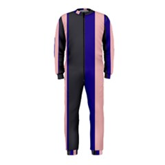Purple, pink and gray lines OnePiece Jumpsuit (Kids)