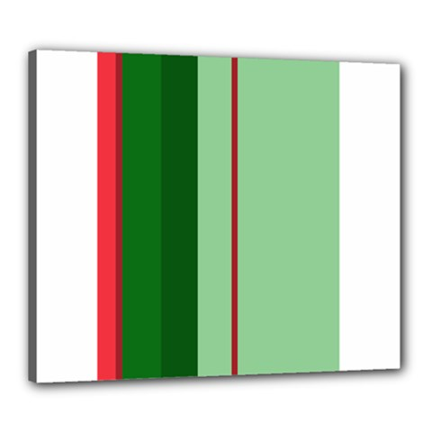 Green and red design Canvas 24  x 20