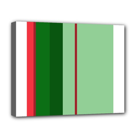 Green and red design Deluxe Canvas 20  x 16