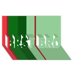 Green and red design BEST BRO 3D Greeting Card (8x4)