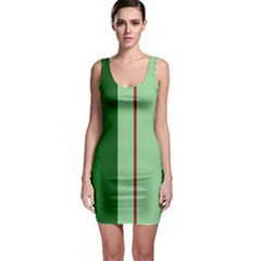 Green and red design Sleeveless Bodycon Dress