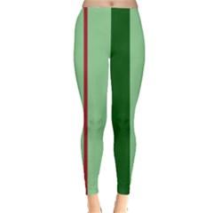 Green and red design Leggings