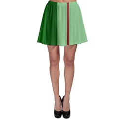 Green and red design Skater Skirt