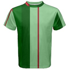 Green and red design Men s Cotton Tee