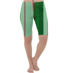 Green and red design Cropped Leggings