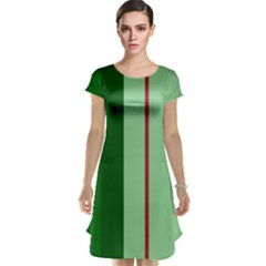 Green and red design Cap Sleeve Nightdress